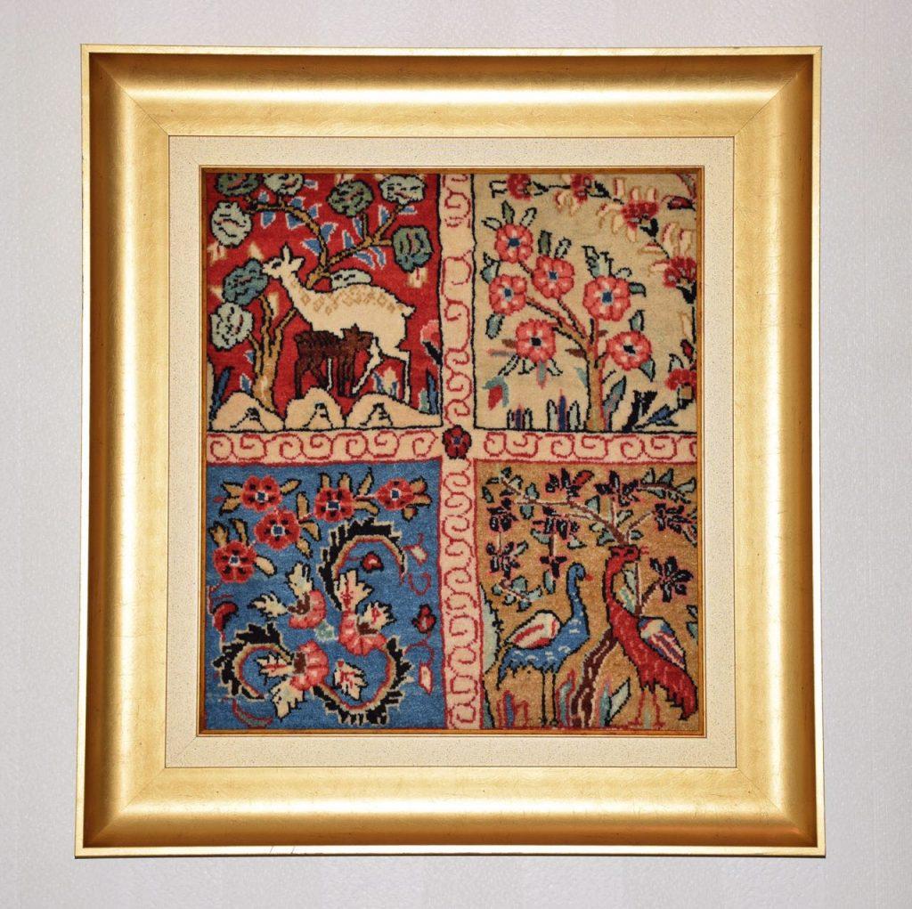 تابلو فرش زیبا و سنتی دست بافت