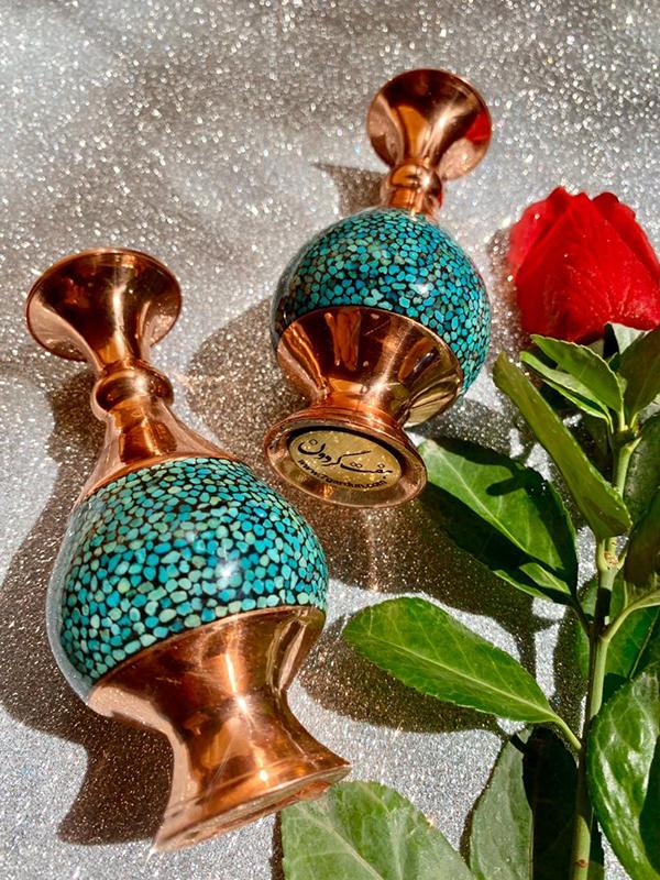 گلدان فیروزه کوبی