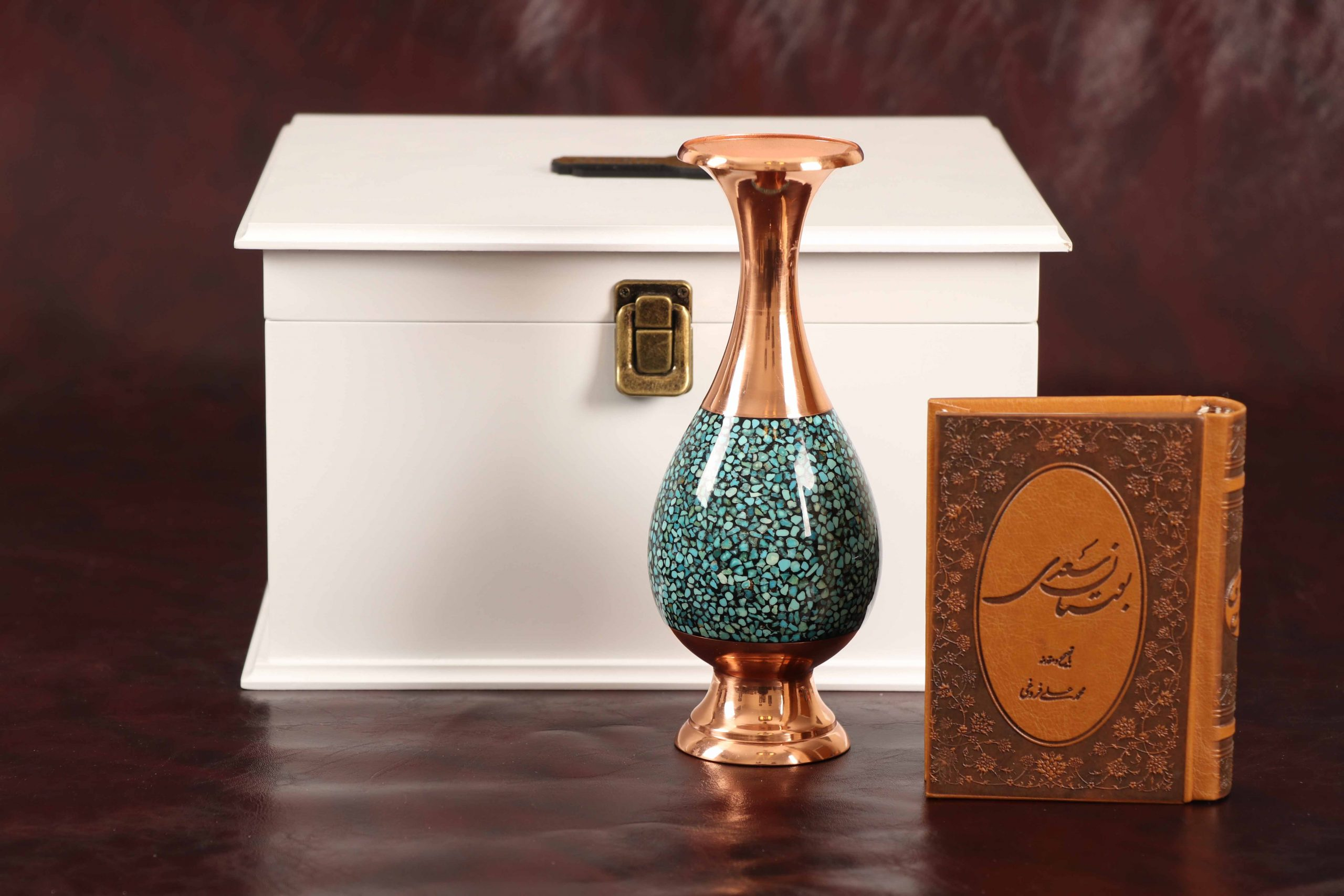ست گلدان فیروزه کوبی و دیوان حافظ