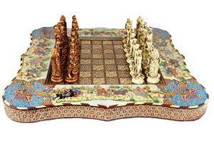 صنایع دستی خاتم کاری شطرنج خاتم