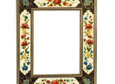 قاب آینه گل و مرغ و خاتم