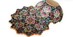 کاسه و بشقاب میناکاری روی سفال لب دالبری